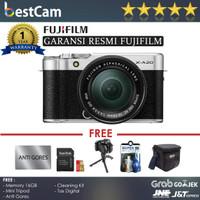 Fujifilm X-A20/XA20 Kit 15-45mm (Silver) - FREE ACC - RESMI