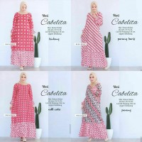 Batik Rifa GBR012 Dress Batika Sogan Gamis Batik Syar'i Sogan