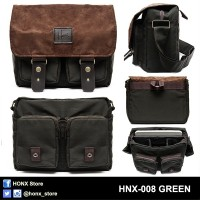 Tas Kamera / Messenger Camera Bag / Sling bag HONX 008 GREEN