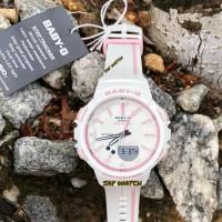 Jam Tangan Wanita Casio Baby-G BGS-100-RT-7A White Pink Original BM