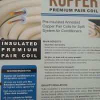"Pipa AC Tembaga ukuran 3/8"" + 3/4"" Premium KUPFER ( utk. AC 4 & 5 pk)"