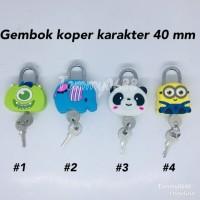 GEMBOK KOPER KARAKTER 40 MM. KUNCI GANTUNG MODEL ANIMASI KARTUN 40 MM.