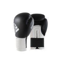 Sarung Tinju Adidas Hybird 100 Boxing Glove Black white ADIH100