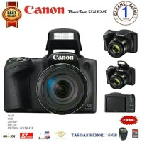 kamera Canon powershoot SX430 IS 20.5MP +Memory Sandisk 16gb +tas
