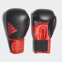 Sarung Tinju Adidas Hybrid 100 Boxing Glove Black Core Red ADIH100