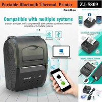 Zjiang Mini Portable Bluetooth Thermal Receipt Printer - 5809 - Hitam