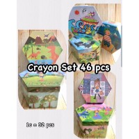 DAVIS Crayon Box Set 46 Pcs