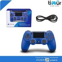 Stick Stik Controller PS4 Wireless Ori Original Pabrik Wave Blue