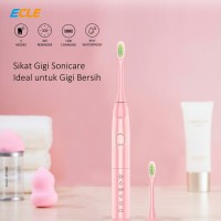 ECLE Electric Toothbrush / Sikat Gigi Portable Sonic Care Rechargeable