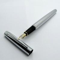 Metal Fountain Pen Chrome Pen Bolpen Pulpen Pena