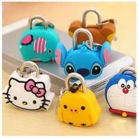 Gembok tas - gembok mini karakter kartun - gembok koper