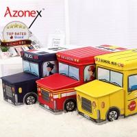 Storage Box Organizer Kotak Penyimpanan Mainan Stool Kursi - Seri Bus