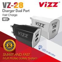CHARGER VZ-28 VIZZ DUAL PORT FAST CHARGING 2.1 A