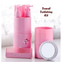 Travel Toiletries Kit Set Tempat Sabun Shampoo Sikat Gigi Travelling