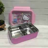 Lunch box stainless PREMIUM totoro tsum doraemon kotak makan stainles