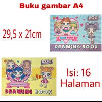 Buku Gambar A4 Lol i isi 16 Halaman Anak Sekolah - paper star - satuan