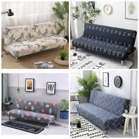 cover sofa bed /sarung sofa bed motif daun
