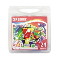 CRAYON MEWARNAI 24 WARNA GREEBEL OIL PASTELS (OFF-43)