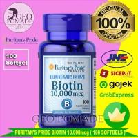 Biotin Ultra Mega 10.000 mcg 100 Softgels Suplement Rambut dan kuku