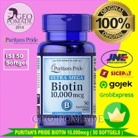 Puritan Biotin 10000 mcg Ultra Mega - isi 50 softgels