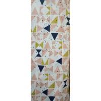 Kain sprei abstrak murah motif Triangle Saleem