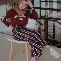 CLEARANCE SALES Bangkok stripe pants / kulot stripe pants milano