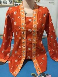 Kebaya kutubaru jumputan atasan batik seragam wanita
