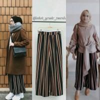 Stripe Trendy Kulot Garis Muslimah