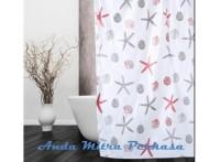 HOT SALE Shower Curtain Tirai Gorden Kamar Mandi Motif PEVA Anti Air