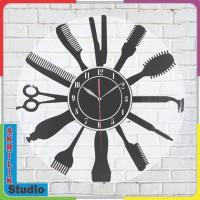 Produk Jam Dinding Akrilik 3D Barbershop dan Salon 02 Series