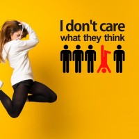 Cutting Sticker Quotes I Dont Care Stiker Quote Dinding Kantor Unik