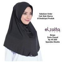 Bergo Hijab Instan ZARIA CASUAL ELZATTA Original