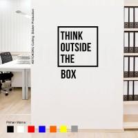 Wall Stiker Quotes Think Outsid Box Sticker Dinding Kamar Rumah Kantor