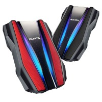 ADATA HD770G 1TB - RGB EXTERNAL HDD - Antishock & Waterproof USB 3.2 - Black / Red