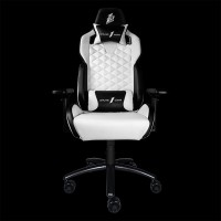 1STPLAYER GAMING CHAIR DK2 - BLACK WHITE - All Steel Skeleton - High Density Integrated Molded Foam