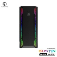 CUBE GAMING DUSTIN BLACK - ATX - LEFT SIDE TEMPERED GLASS - PSU COVER - RGB FRONT PANEL