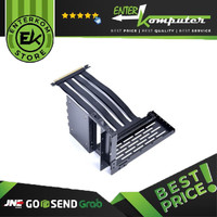 LIAN LI LAN2-1X (FOR LIAN LI LANCOOL II) Premium PCI-E x16 3.0 Black Extender Riser Cable 200mm and Cover Bracket