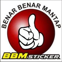 BBM stiker