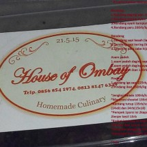 House of Ombay Homemade