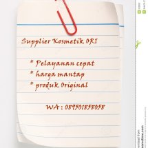Supplier Kosmetik ORI