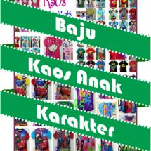Baju Kaos Anak Karakter