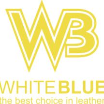 whiteblue leather Logo