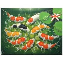 Lukisan Ikan Koi Cantik