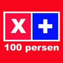 x-plus 100 persen