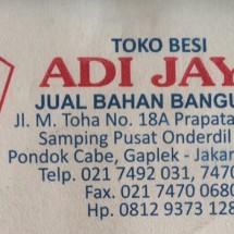 Logo Toko Besi Adi Jaya