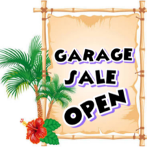 Garage sale open