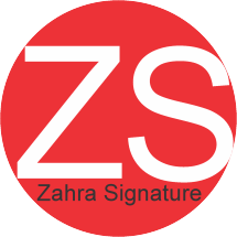 Logo Zahra Signature