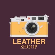 Logo leather shoop