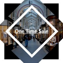 one time sale Logo
