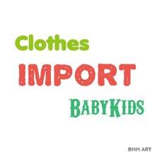 Logo clothes import babykids